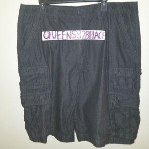 Faded Glory 40 Gray Cargo Jean Shorts Like New